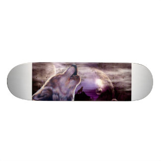 Wolf Howling at The Moon Skate Decks