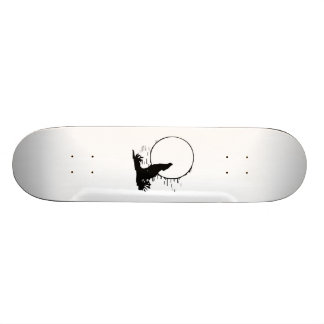 Wolf Howling at the Moon Skate Boards
