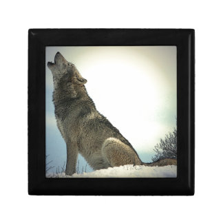 Wolf Howling in Snow Gift Box
