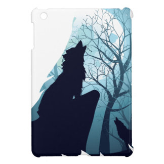 Wolf Howling with Forest2-01 Case For The iPad Mini