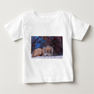 Wolf Hunts In The Snow Baby T-Shirt