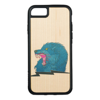 Wolf Illustration Carved iPhone 8/7 Case