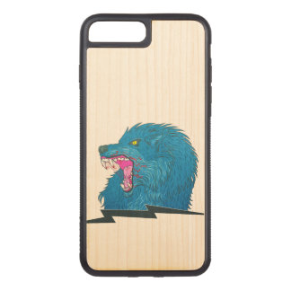 Wolf Illustration Carved iPhone 8 Plus/7 Plus Case