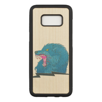 Wolf Illustration Carved Samsung Galaxy S8 Case
