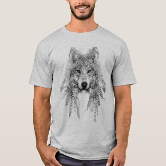 Wolf In Indigenous Apparel T-shirt