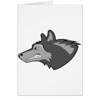 Wolf in Sleek Gray Greeting Card