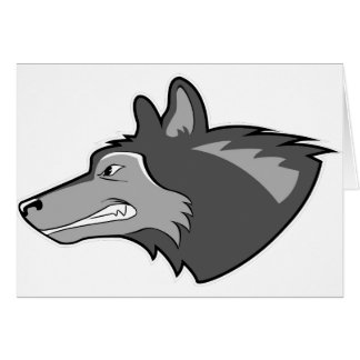Wolf in Sleek Gray Greeting Card