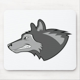 Wolf in Sleek Gray Mouse Pad