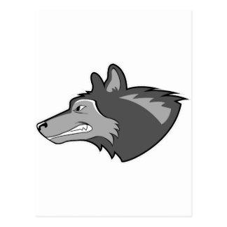 Wolf in Sleek Gray Postcard