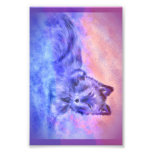 Wolf in snowy sunset photographic print