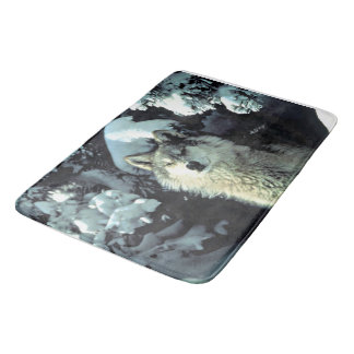 Wolf In The Snow Bath Mat