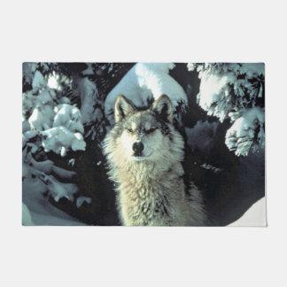 Wolf In The Snow Doormat