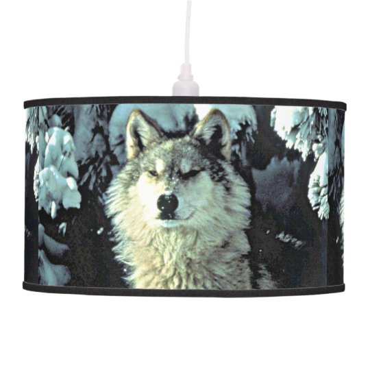 Wolf In The Snow Pendant Lamp