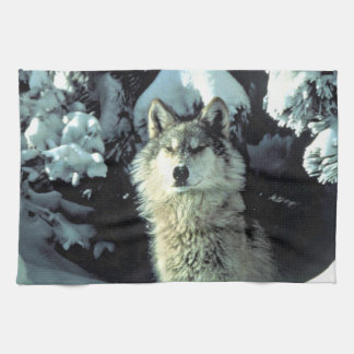 Wolf In The Snow Towels