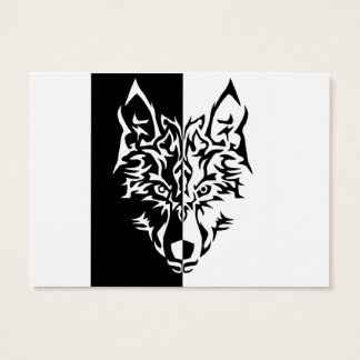 Wolf in Tribal Style Business Card