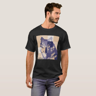 wolf knows wild life echo-social-messaje T-Shirt