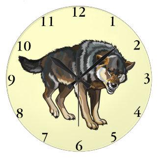 wolf large clock