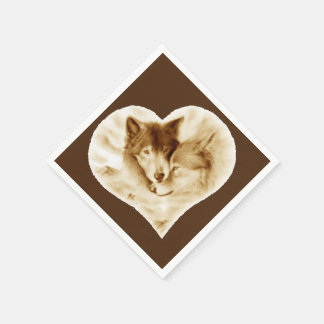 Wolf Love Disposable Napkin