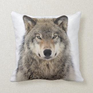 Wolf Love Throw Pillow