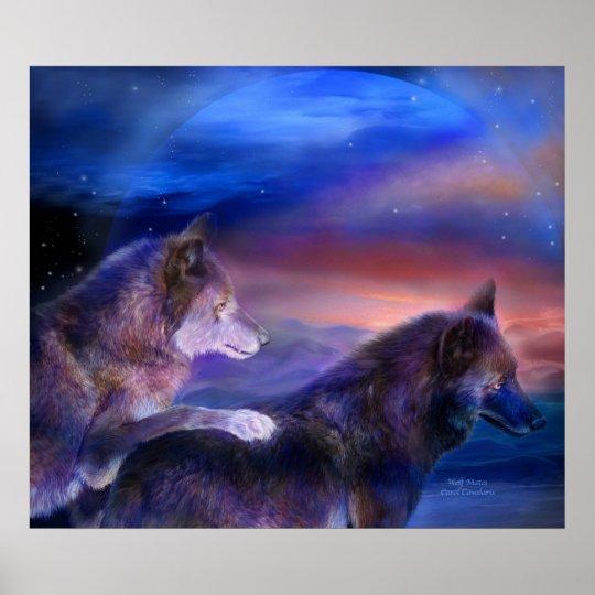 Wolf Mates Art Poster/Print Poster