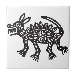 Wolf, Mexican hieroglyph(Maya) Tile