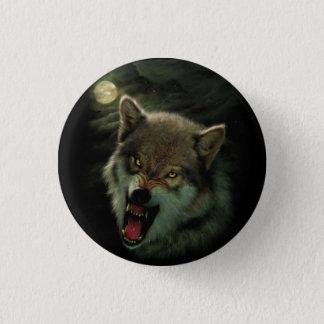 Wolf moon 1 inch round button
