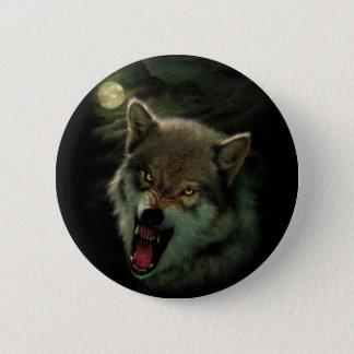 Wolf moon 2 inch round button