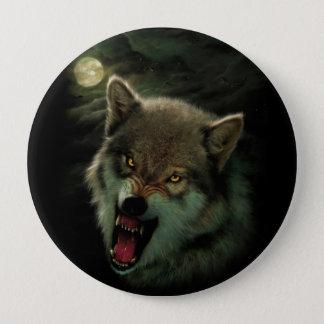Wolf moon 4 inch round button