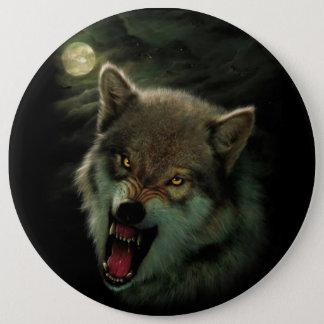 Wolf moon 6 inch round button