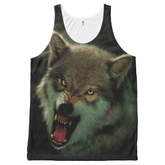 Wolf moon All-Over-Print tank top