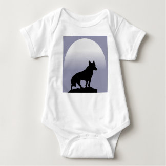 Wolf Moon Baby Bodysuit