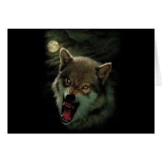 Wolf moon card