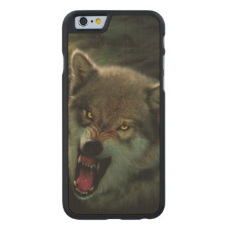 Wolf moon carved maple iPhone 6 case