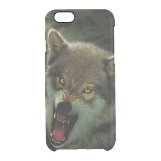 Wolf moon clear iPhone 6/6S case