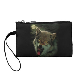 Wolf moon coin purse