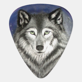 Wolf Moon Guitar Pick