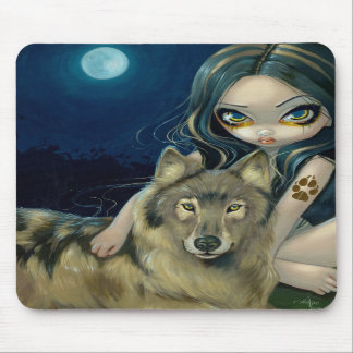 """Wolf Moon"" Mousepad"