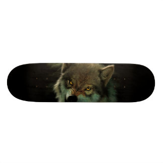 Wolf moon skate deck