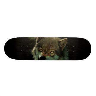 Wolf moon skateboard deck