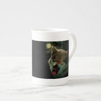Wolf moon tea cup