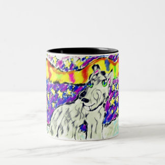 wolf Northem light Two-Tone Coffee Mug