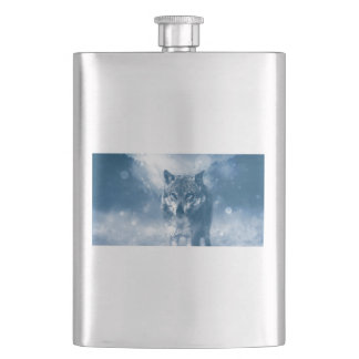 Wolf Office Home Personalize Destiny Destiny'S Hip Flask