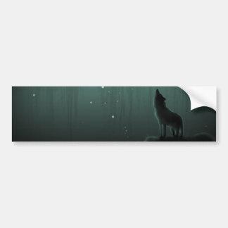 wolf on a hill bumper sticker