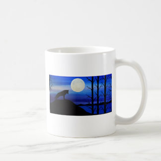 wolf on the mountain coffee mug