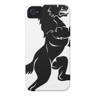 Wolf or Dog in Rampant Heraldic Coat of Arms Pose iPhone 4 Covers