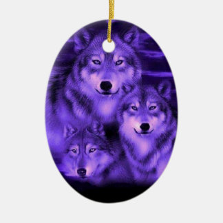 Wolf Pack Ceramic Ornament