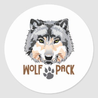WOLF PACK CLASSIC ROUND STICKER