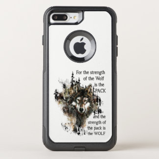 Wolf & Pack Family Inspirational Quote OtterBox Commuter iPhone 8 Plus/7 Plus Case