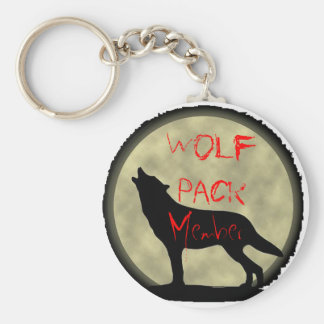 Wolf Pack Member Basic Round Button Keychain