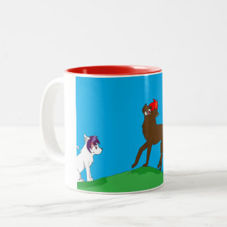 Wolf pack Two-Tone coffee mug